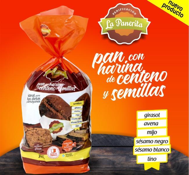 Pan con Harina de Centeno y Semillas
